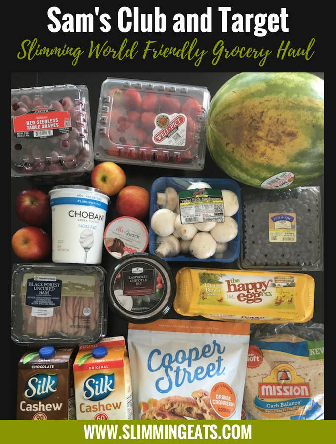 Slimming World Grocery Haul  – Sam's Club and Target – August 2017