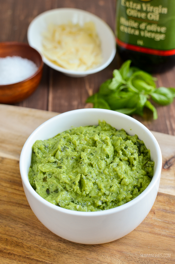 Slimming Eats Pea Pesto - gluten free, vegetarian, Slimming World and Weight Watchers friendly