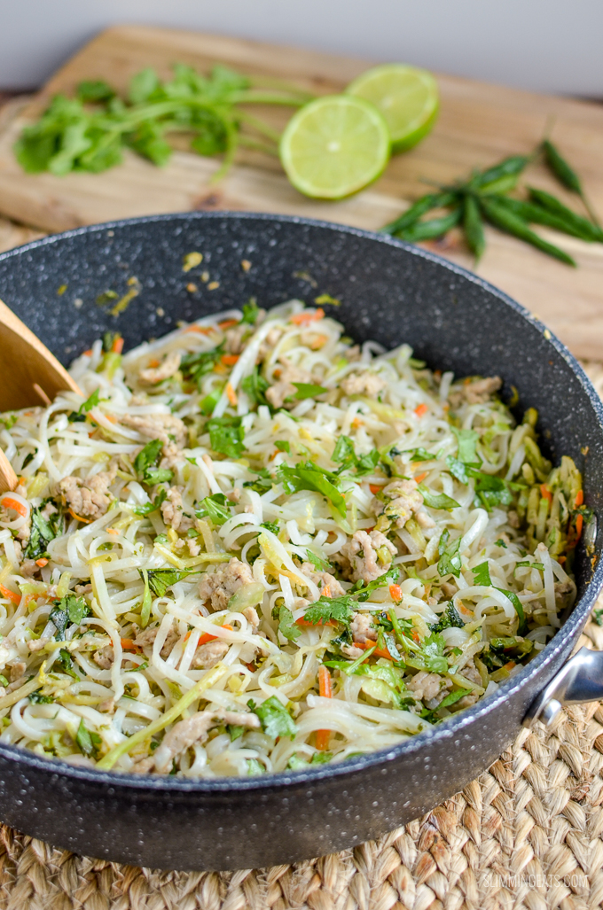 Slimming Eats Thai Chicken Noodles - gluten free, dairy free, Slimming World and Weight Watchers friendly - 1.5 syns or 9 WW Smart Points per serving