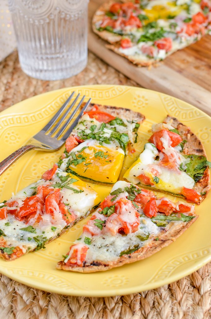 Slimming Eats Syn Free Breakfast Pizza - vegetarian, Slimming World and Weight Watchers friendly