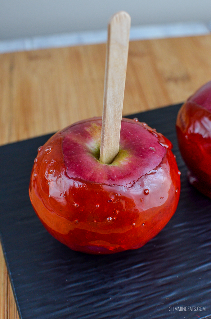 Slimming Eats Low Syn Toffee Apples / Candy Apples - gluten free, dairy free, vegetarian, Slimming World and Weight Watchers friendly