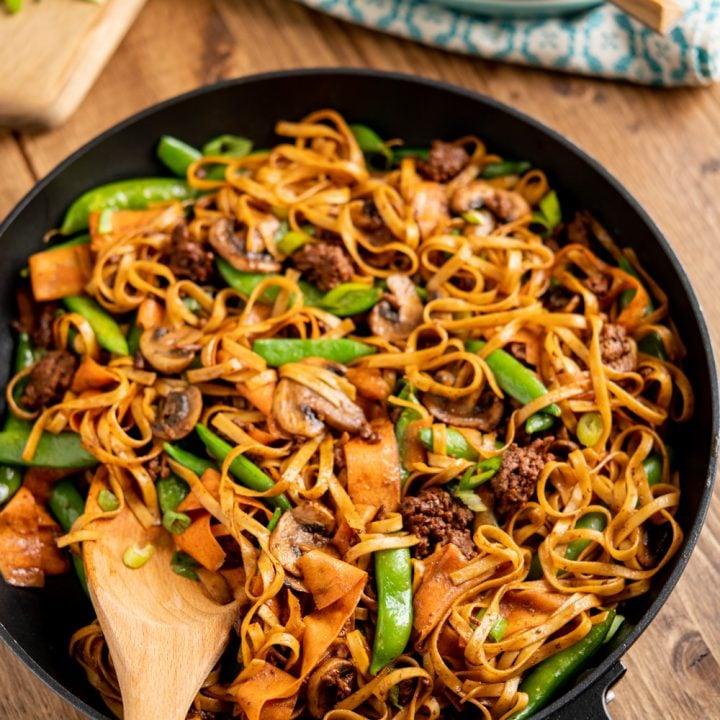 Quick Hoisin Beef Noodle Stir Fry