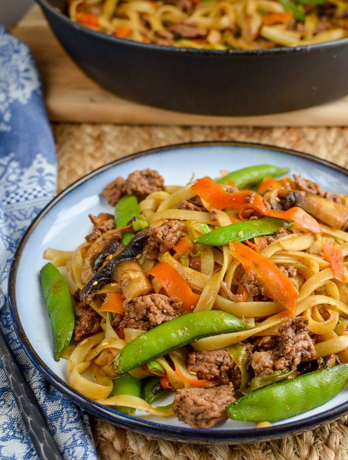 Quick Hoisin Beef Noodle Stir Fry