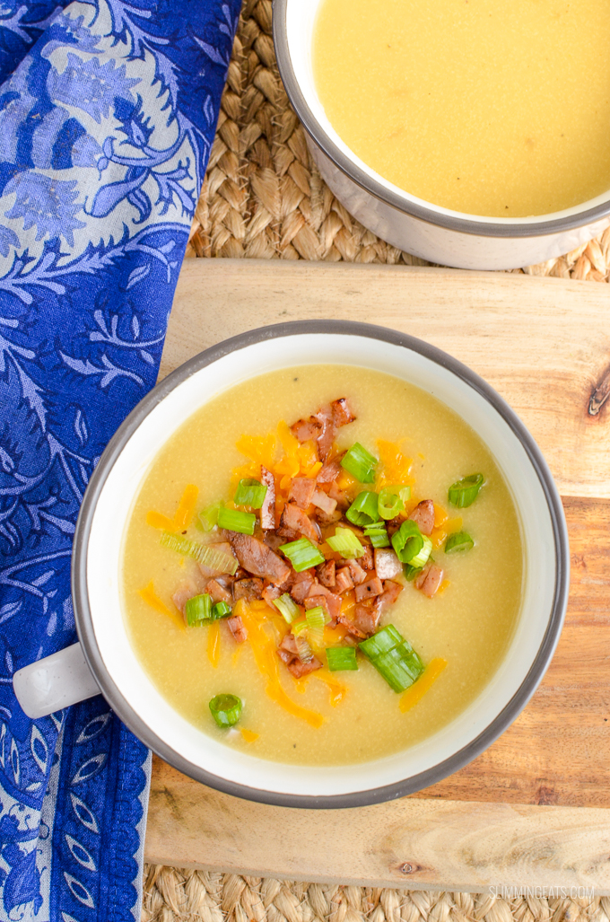Syn Free Loaded Baked Potato Soup - gluten free, Slimming World and Weight Watchers friendly