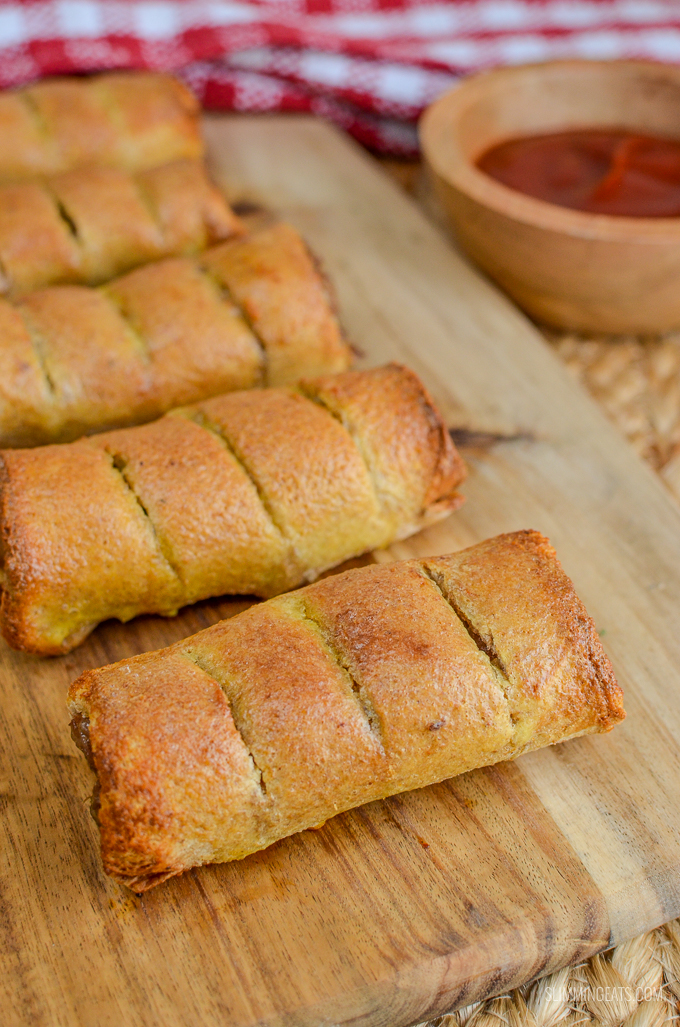 Slimming Eats Syn Free Sausage Rolls - dairy free, Slimming World and Weight Watchers friendly