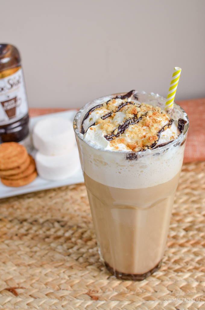 Slimming Eats Low Syn S'mores Frappuccino - Slimming World and Weight Watchers friendly