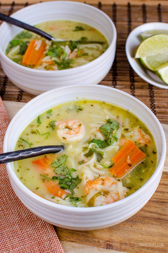 Thai Coconut Shrimp Noodle Soup (Instant Pot and Stove Top)