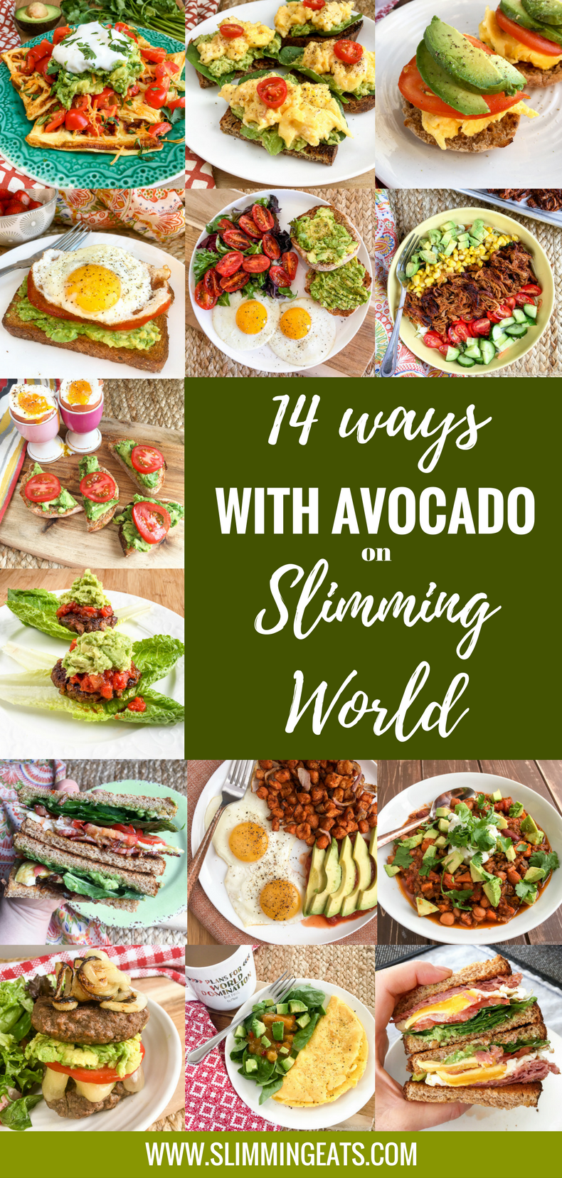 Slimming Eats - Avocado and Slimming World - if you have been avoiding avocado all this time believing it to be really high in syns, you need to read this post. 14 ways to enjoy avocado on Slimming World