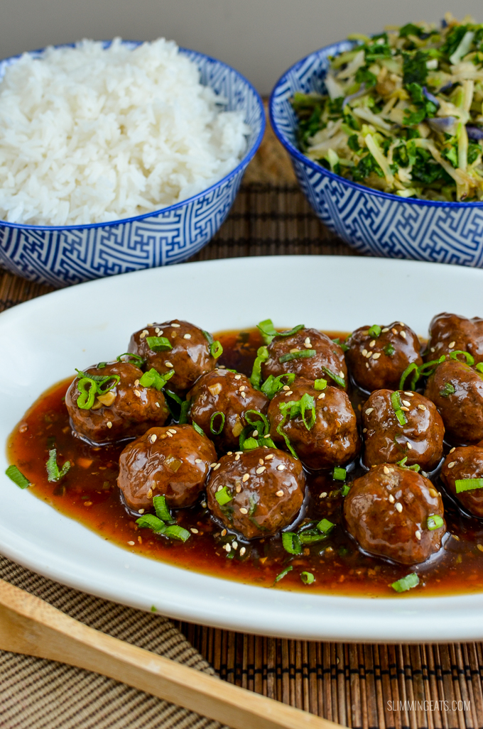 Slimming Eats Teriyaki Meatballs - gluten free, dairy free, Slimming World and Weight Watchers friendly