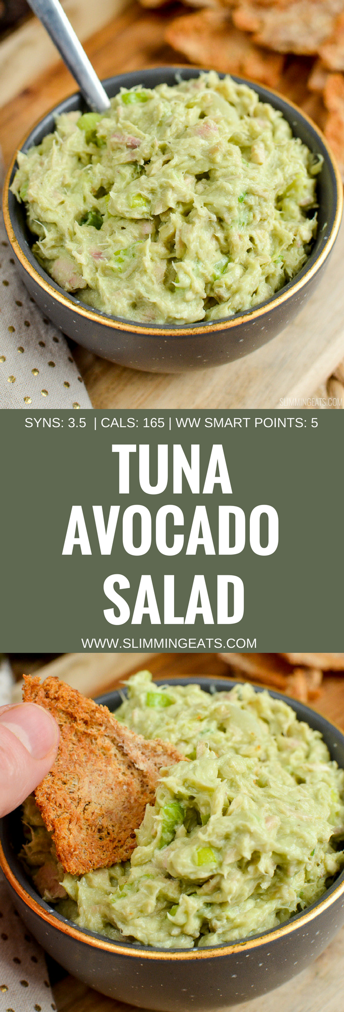 Slimming Eats Tuna Avocado Salad - gluten free, Slimming World and Weight Watchers friendly