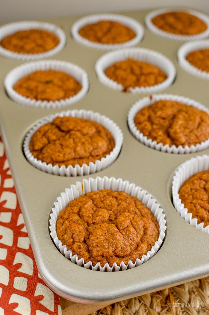 Slimming Eats Pumpkin Sultana Muffins - gluten free, dairy free, vegetarian, Slimming World and Weight Watchers friendly