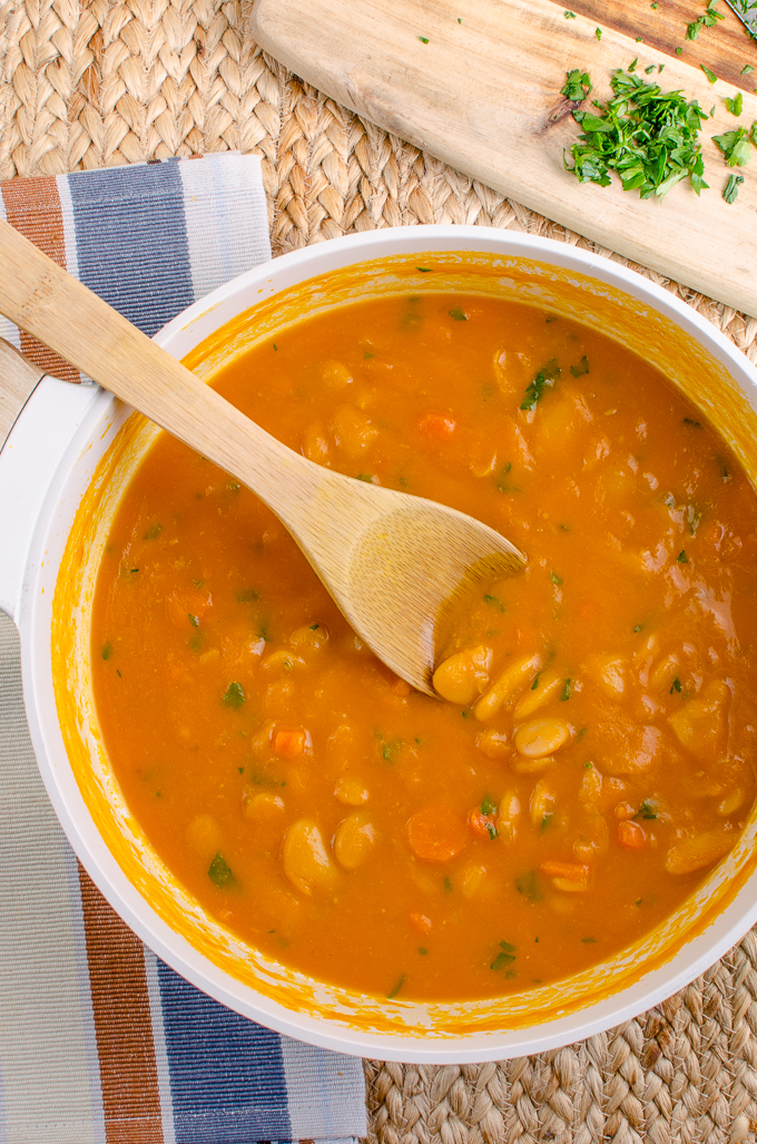 Slimming Eats Syn Free Carrot and Butter Bean Soup - gluten free, dairy free, vegan, pressure cooker (Instant Pot), Slimming World and Weight Watchers friendly