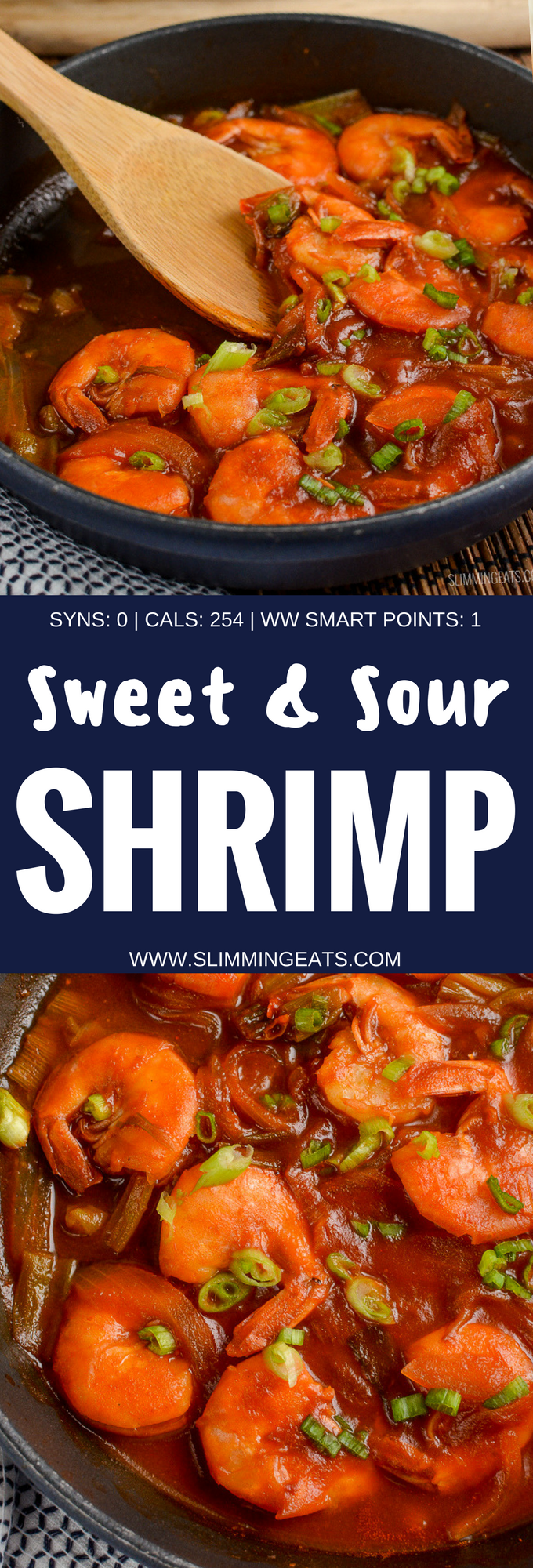 Slimming Eats Syn Free Sweet and Sour Shrimp - gluten free, dairy free, Slimming World and Weight Watchers friendly