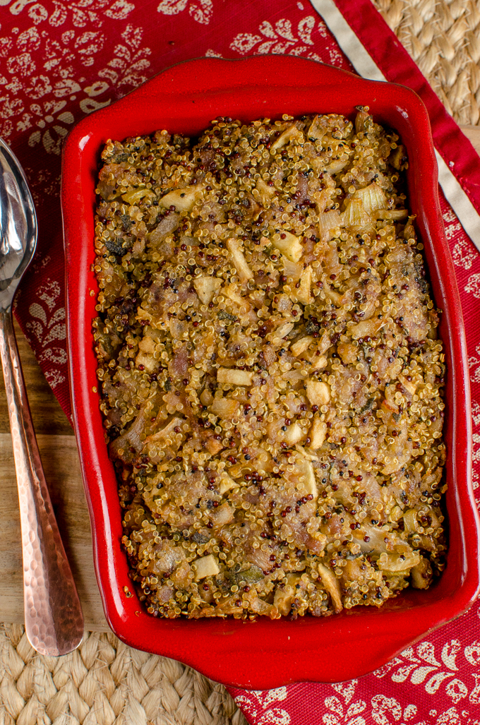 Slimming Eats - Delicious Low Syn Sausage Sage Onion Quinoa Stuffing - Gluten Free, Dairy Free, Slimming World and Weight Watchers friendly
