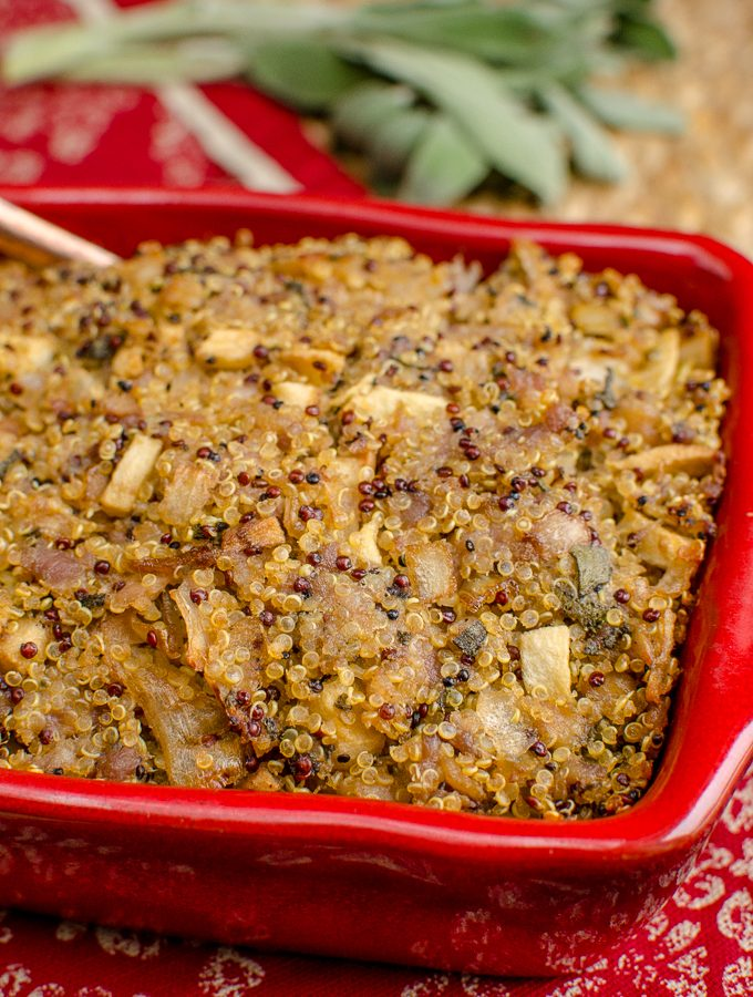 Low Syn Sausage Sage Onion Quinoa Stuffing | Slimming World