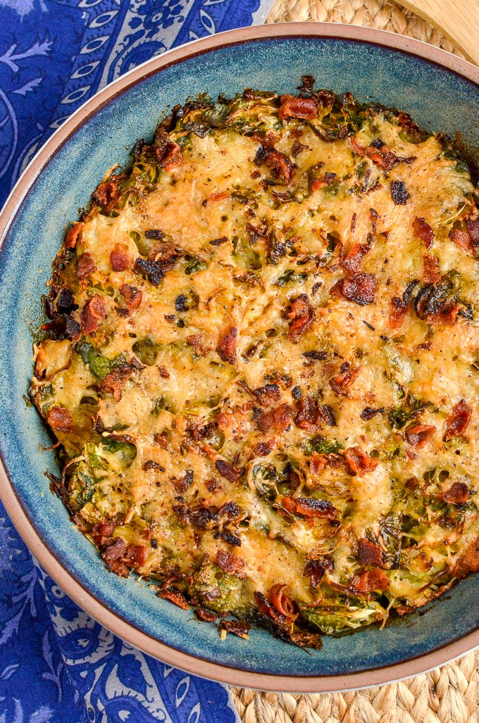 Slimming Eats Syn Free Brussels Sprouts Gratin - gluten free, vegetarian, Slimming World and Weight Watchers friendly