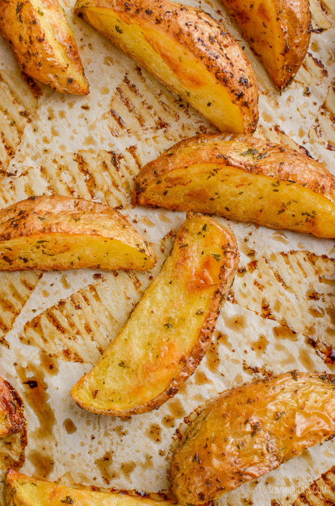 Slimming Eats Syn Free Garlic and Herb Potato Wedges - gluten free, dairy free, vegan, vegetarian, Slimming World and Weight Watchers friendly