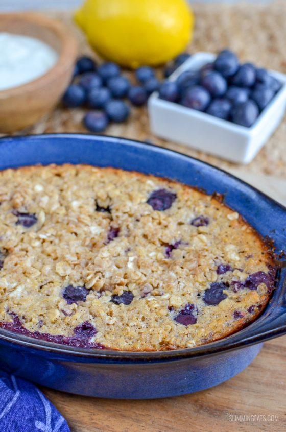 Blueberry and Lemon Baked Oats   Slimming World