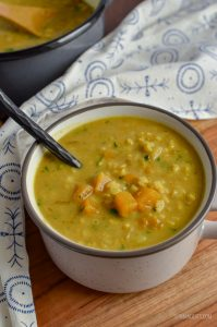 cup of butternut squash rice soup