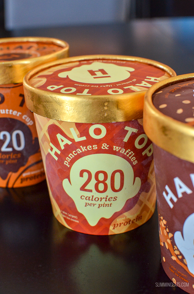 The UK has been going crazy over a certain new frozen treat called Halo Top Ice Cream, sold out at many stores across the country. But why is it so popular and is it really worth all the hype and craze? I decided to put it to the test by taste testing a variety of flavours. Syn Values and WW Smart Points included | www.slimmingeats.com