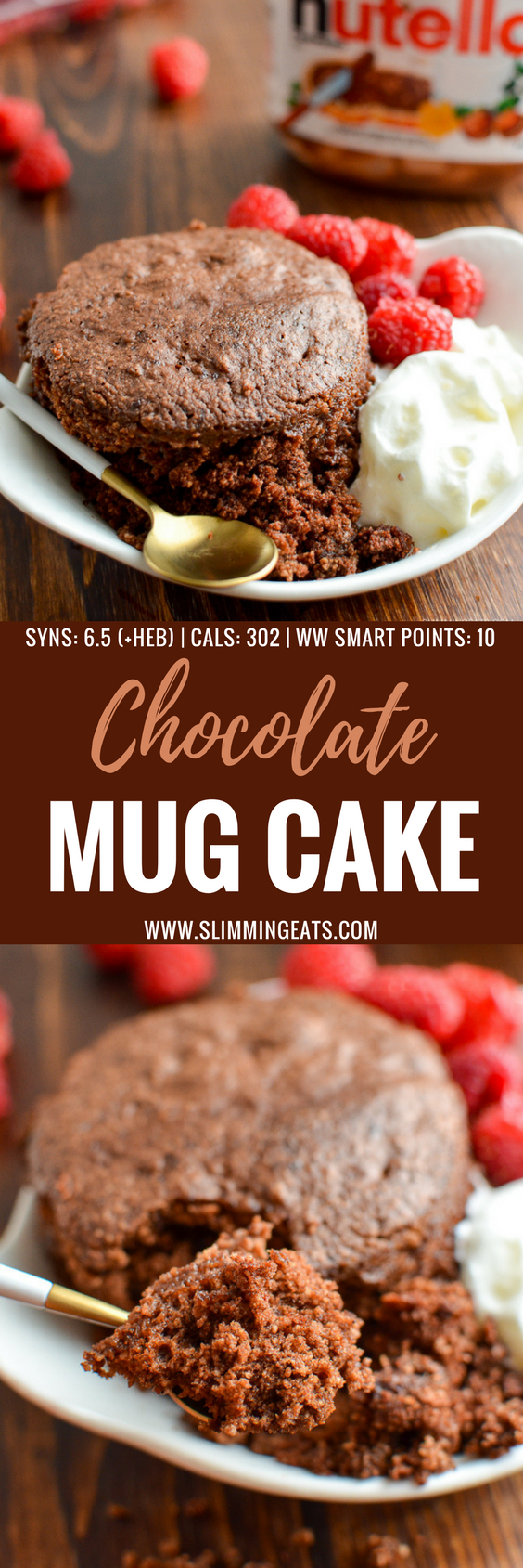 The Best Slimming World Microwave Chocolate Mug Cake you will ever make - seriously this is light, fluffy and delicious!! Gluten Free, Vegetarian, Slimming World and Weight Watchers friendly | www.slimmingworld.com