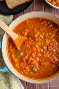 pot of campfire stew