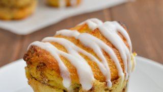 Cinnamon Roll Baked Oat Muffins