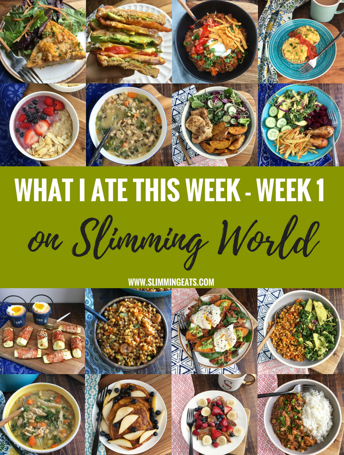 What I Ate This Week on Slimming World – Week 1