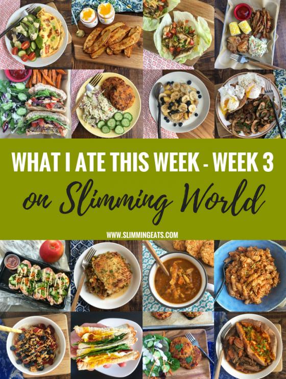 What I Ate This Week On Slimming World – Week 3