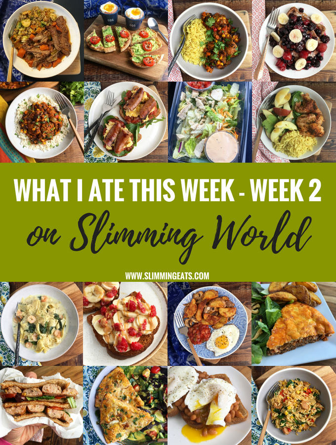 What I Ate This Week on Slimming World – Week 2 – See what I ate for week two with my full food diary including my weight loss. This is so much better than just a basic Meal Plan because you will see the food exactly how it was made and enjoyed.