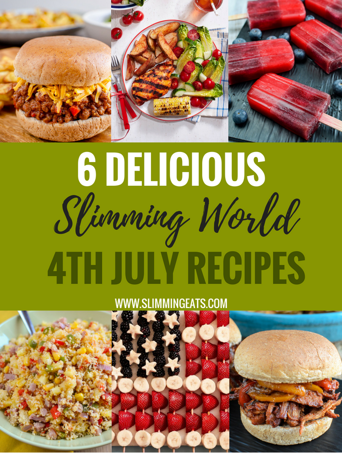 Need some Slimming World friendly party food recipes for your 4th July Celebrations? then look no further as we have a line up of 6 amazing recipes right here.