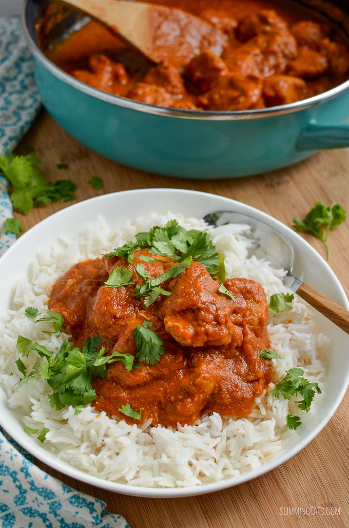 Low Syn Healthy Butter Chicken - the ultimate Slimming World Indian Fakeaway dish, with healthy delicious ingredients that don't compromise on flavour. Gluten Free, Slimming World and Weight Watchers friendly
