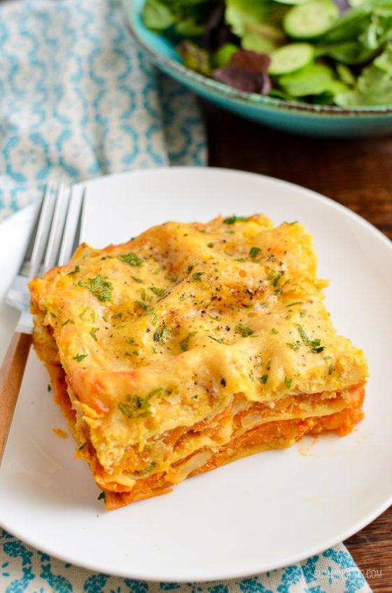 Roasted Butternut Squash Ricotta Lasagne | Slimming World