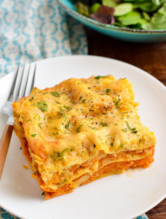 Roasted Butternut Squash Ricotta Lasagne | Slimming World