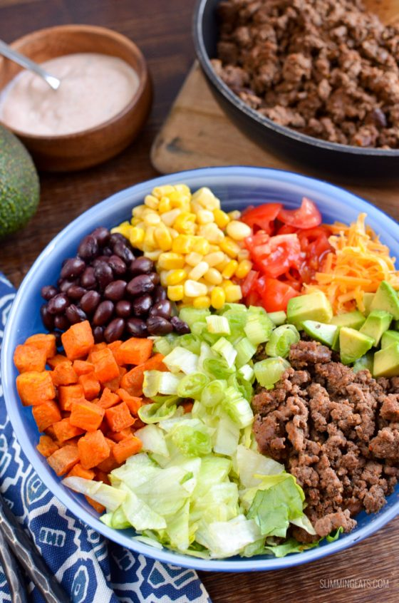 Low Syn Taco Salad Bowl | Slimming World