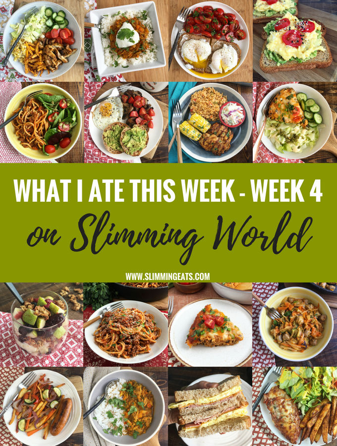 What I Ate This Week on Slimming World – Week 4 – My new addition to the blog, where I will share my weekly food diary. This is so much better than just a basic Meal Plan because you will see the food exactly how it was made and enjoyed.