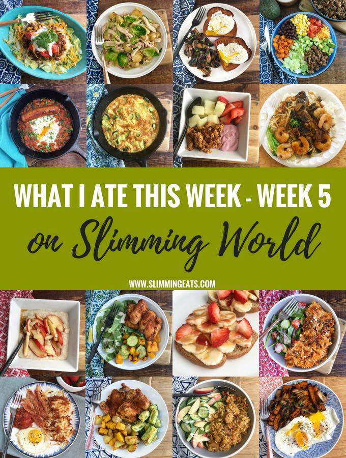 What I Ate This Week on Slimming World – Week 5