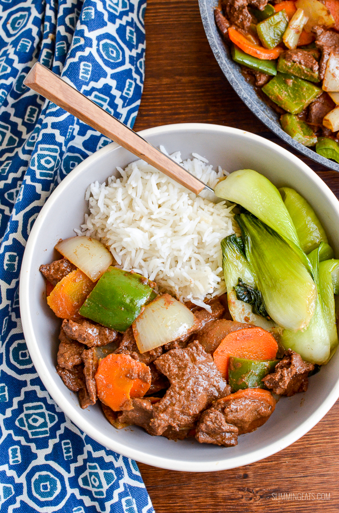 Mouthwatering Satay Beef and Vegetables - the perfect dish for your Low Syn Chinese Fakeaway | gluten free, dairy free, Slimming World and Weight Watchers friendly