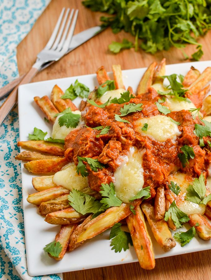 Low Syn Butter Chicken Poutine | Slimming World