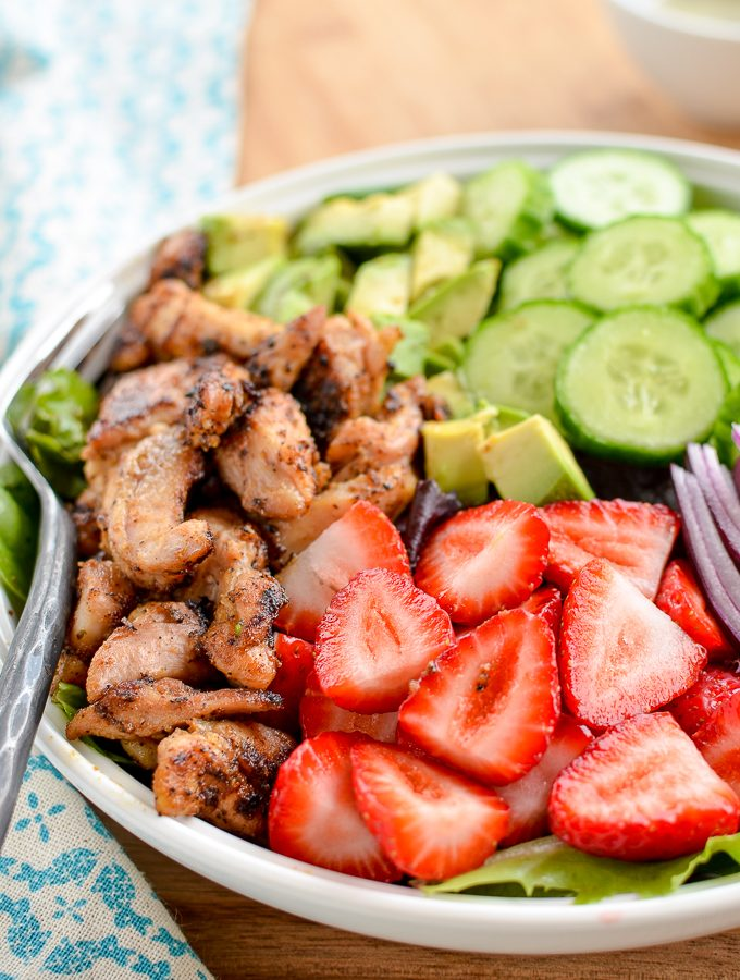 Chicken Strawberry Avocado Salad | Slimming World