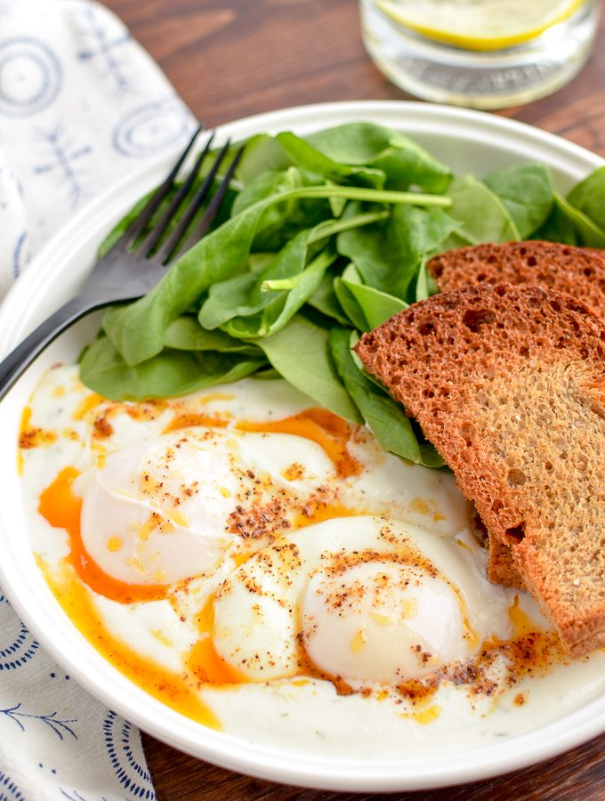Low Syn Turkish Poached Eggs in Yoghurt | Slimming World