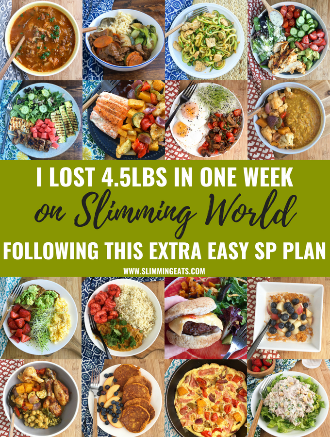I lost over 4lbs in one week on Slimming World following the Extra Easy SP plan