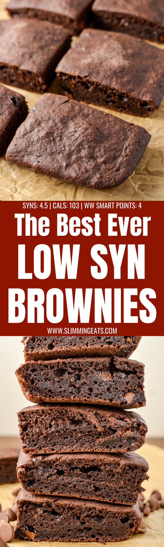These are by far the best ever low syn chocolate brownies you will make. Real Ingredients, low syns and delicious chocolately flavour. Dairy Free, Vegetarian, Slimming World and Weight Watchers friendly