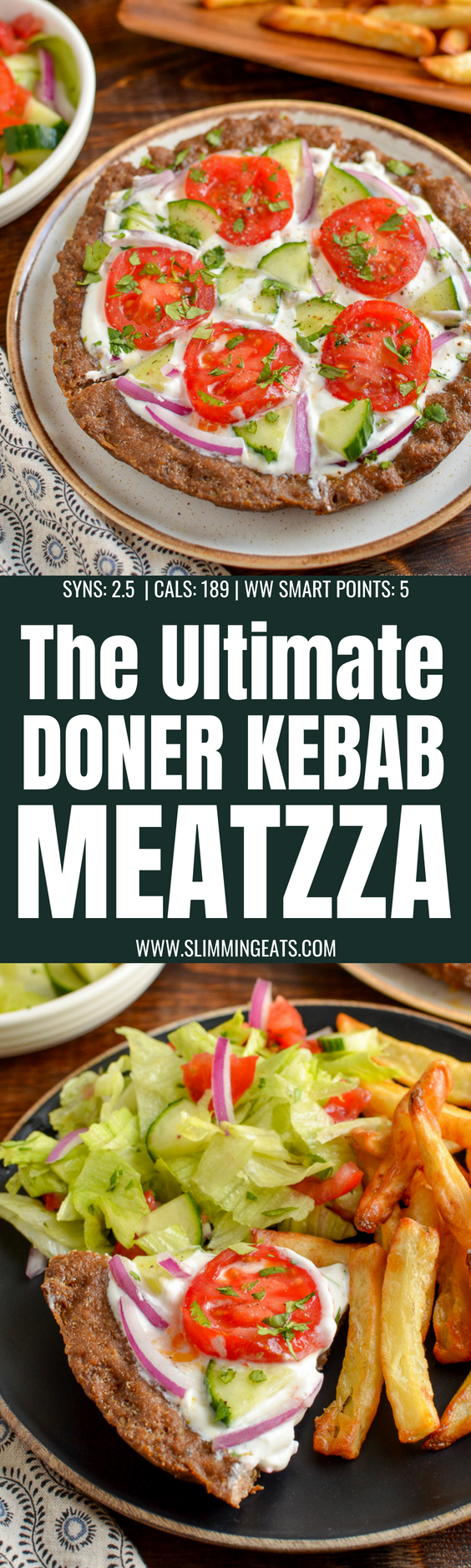 Doner Kebab Meatzza - the ultimate low syn fakeaway for when you can't decide between pizza or a kebab.  | gluten free, dairy free, Slimming World and Weight Watchers friendly