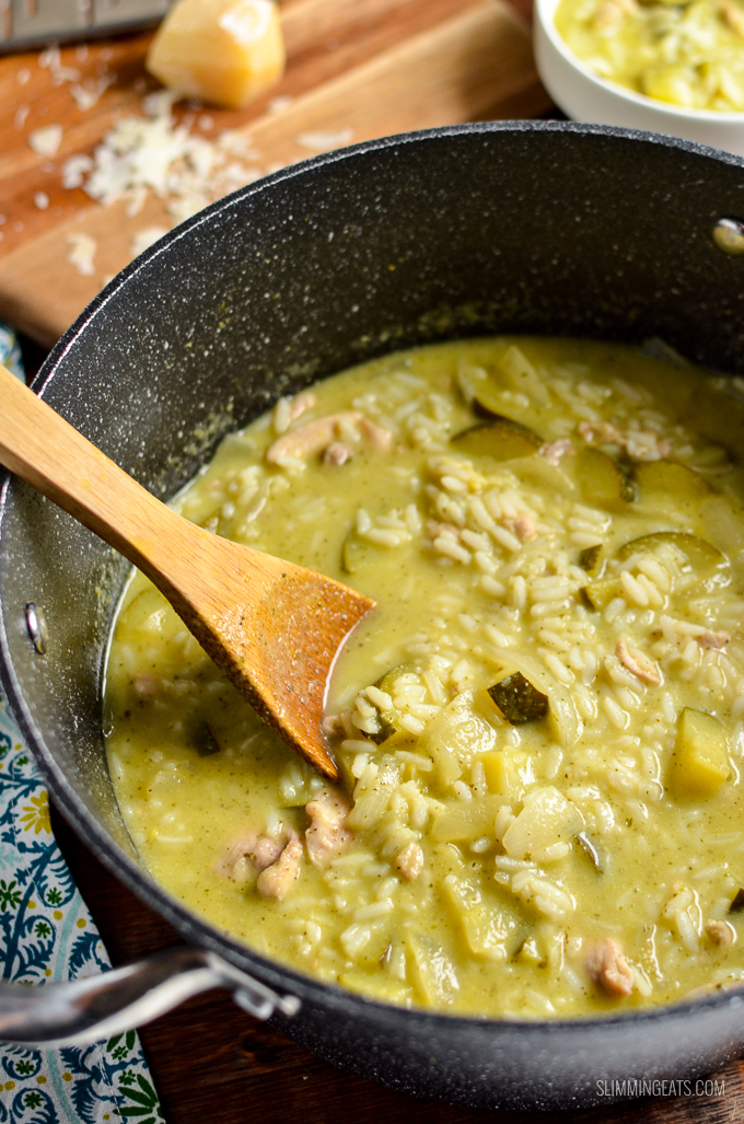 Complete meal in a bowl with the delicious Syn Free Lemony Chicken Zucchini Rice Soup   gluten free, dairy free, Slimming World and Weight Watchers friendly
