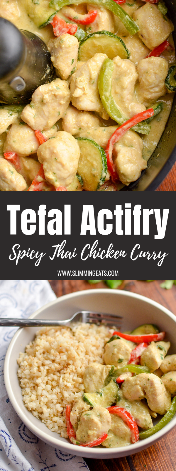 spiced Thai chicken curry pin image