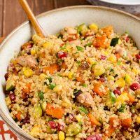 Roasted Butternut Squash Chicken Quinoa Salad