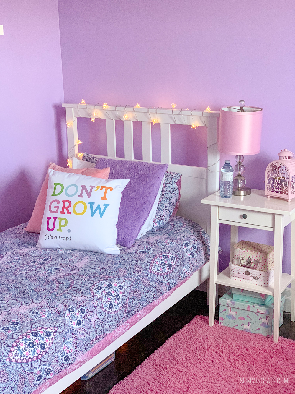 pink and Lilac girls bedroom