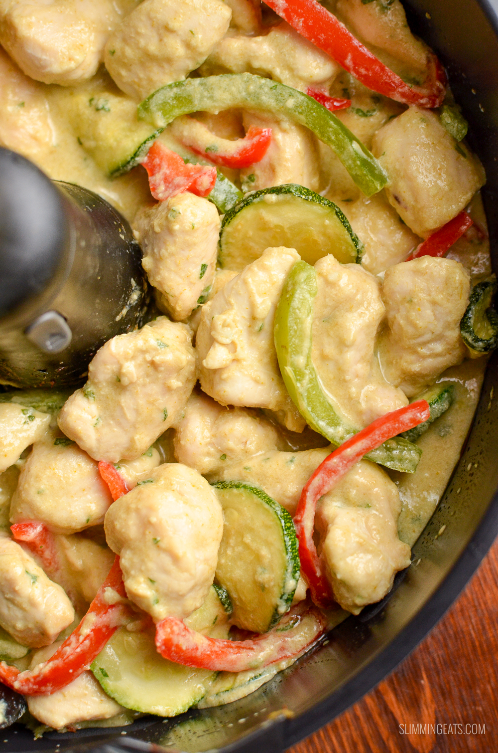 cooked Spiced Thai Chicken Curry in Tefal Actifry Genius