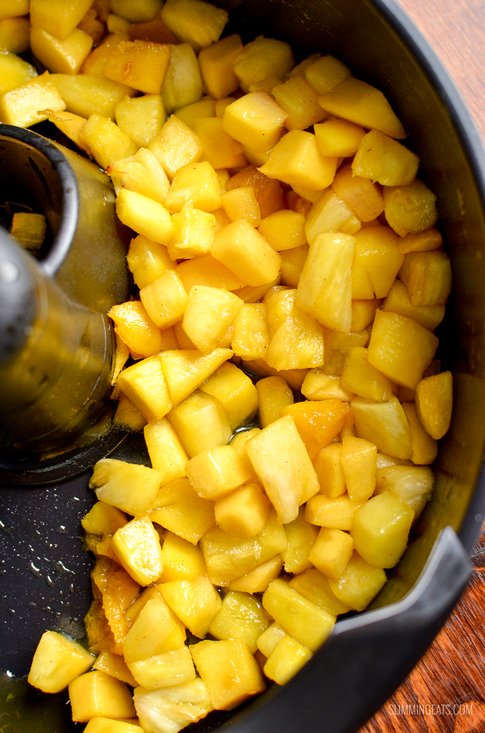 cooked roast pineapple and mango in Tefal Actifry Genius